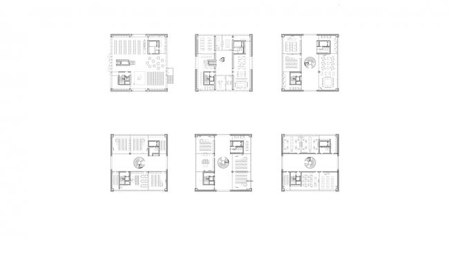from left to right: Ground Floor, 1st - 2nd Floor / 3rd - 6th Floor