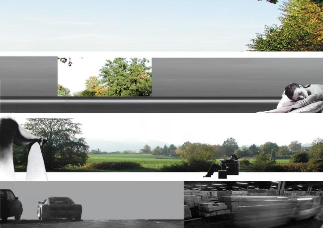 Horizontal Consistency, Collage, 2003; Broëlberg Residences, Kilchberg, 2001-03